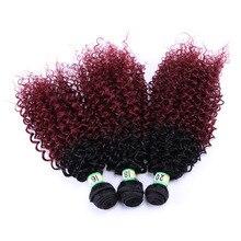 дешево✲  Delice 16-20inch Ombre Kinky Вьющиеся Плетение Волос Синтетический Джерри Curl Наращивание Волос  Лучший!
