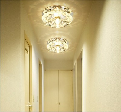 Modern Flush Mount Ceiling Light Crystal Brief 3w 5w Led Lamp For Foyer