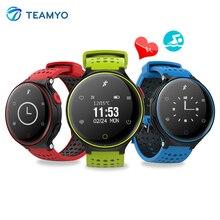Teamyo крови Давление часы Смарт-фитнес-браслет 0.96 дюймов монитор сердечного ритма stappenteller Pulsera actividad для iOS и Android