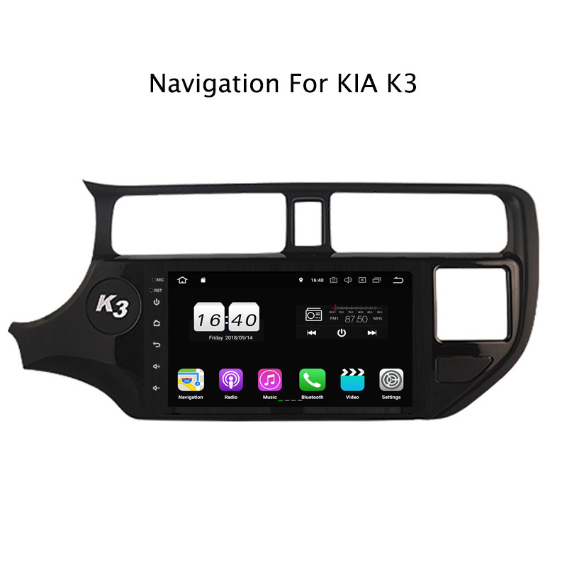 "9"" 2G RAM 16G ROM Android 8.1 Car DVD Multimedia Player For Kia K3 2016 2017 2018 GPS Navigation Radio Stereo Audio"