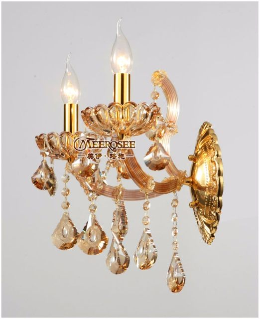 Maria Theresa Crystal Wall Sconces Light Fixture Small Lamp For Bedroom Living Room Bracket Md8475