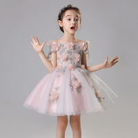 Flower Girl Dresses for Wedding Shoulderless Princess Evening Party Gowns Birthday Costume Floral Bll Gown Holy Communion Dress