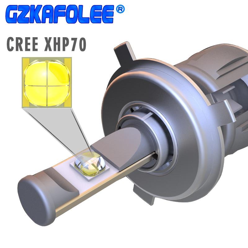 GZ KAFOLEE X70 CR-EE XHP70 Chip H4 Led H8 H9 H11 h4 ha condotto la lampadina 9005 9006 HB3 HB5 6000 k 12 v 120 w Auto Lampadine Del Faro
