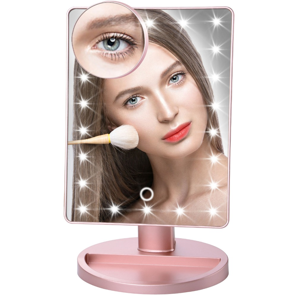 180 Degree Rotation Makeup Mirror With Led Light 10X Magnifying Mirror With Suction Cups Vanity Mirror Light Makeup Accessories ковш черпак банные штучки булава