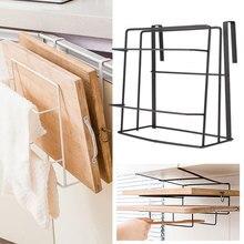Полка из нержавеющей стали, разделочная доска, двухслойная подставка, сковорода, крышка, полка для хранения, держатель для кухонных полотенец, железная, прочная, разделочная