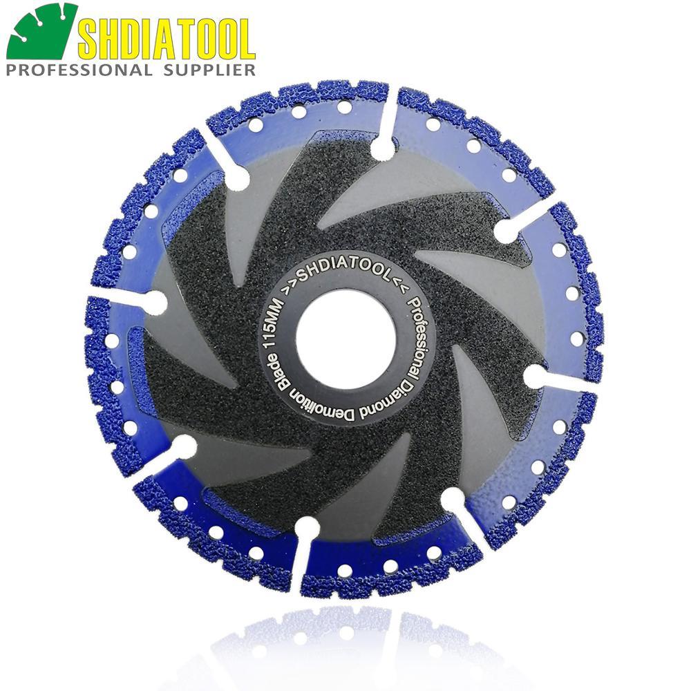 SHDIATOOL Dia 4.5inch/115mm Vacuum Brazed Diamond Saw Blade Demolition Blade Multi Purpose Cutting Disc Diamond Wheel Blade