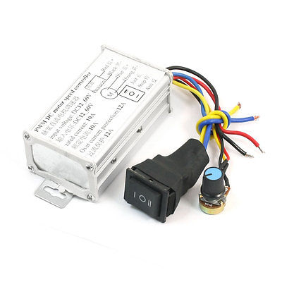 Forceful Rocker Switch Control Cw Stop Ccw Pwm Motor Speed Controller Governor Dc 12-60v Fasteners & Hooks