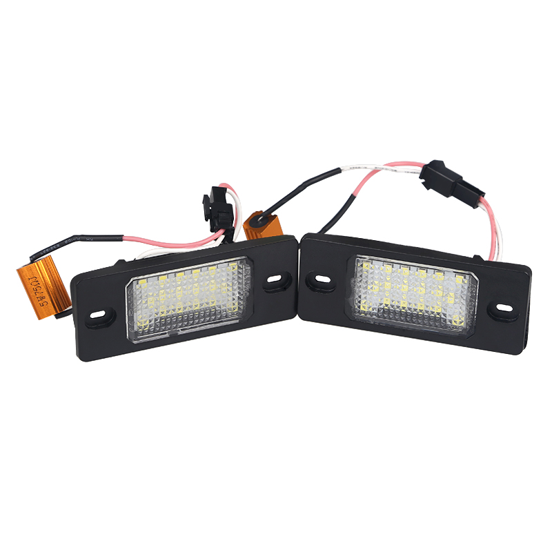 2pcs 6000k White Canbus 12V For Porsche VW Touareg Tiguan <font><b>Golf</b></font> <font><b>5</b></font> Passat B5 <font><b>LED</b></font> Number License Plate <font><b>Lights</b></font> Tail Lighting Source image