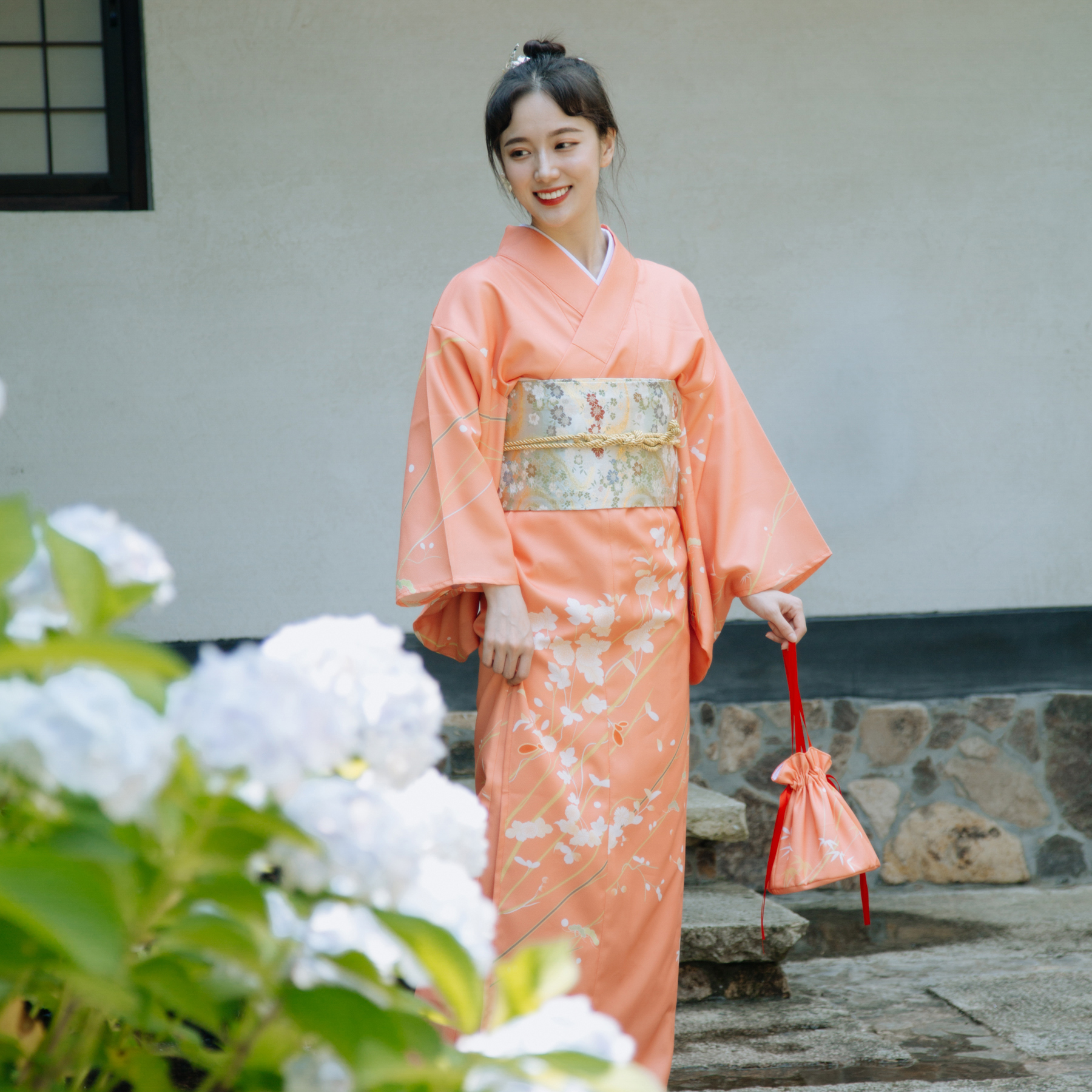 High Quality Japanese traditional kimono take photo dress cosplay female yukata women haori Japan geisha costume obi kimonos