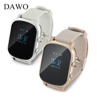 Dawo子供スマート腕時計wifiコールapp追跡リアルタイムgsmトラッカーsim gps腕時計電話用andorid gpsトラッカーmontreランファ