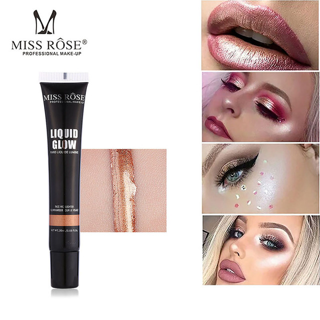 Us 2 56 35 Off Makeup Foundation Face Cosmetics Mr34 8 Colors Fard Liquide Lumine High Gloss Liquid Concealer Bronzer High Lighter In Bronzers
