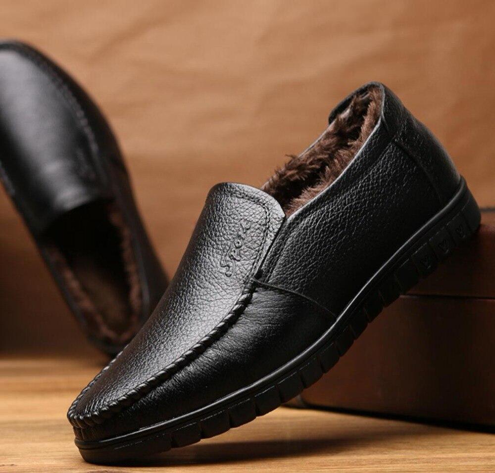 Marca de luxo homens inverno botas confortáveis