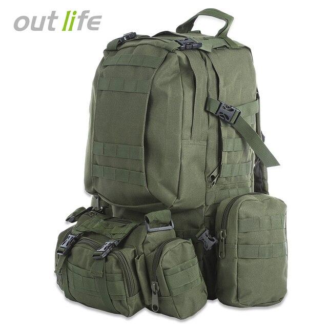 Outlife 50L Homens Mochila Molle Militar Tático Camuflagem Mochila Saco de Desporto Ao Ar Livre Escalada Caminhadas Camping Esporte 8 Cores