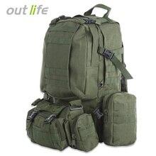 Outlife 50L военный мужской рюкзак Molle тактический камуфляжный рюкзак открытый спортивный альпинизм походная спортивная сумка 8 цветов