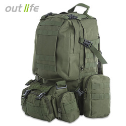 Outlife 50L Military Men Backpack Molle Tactical Camouflage Backpack Outdoor Sport Climbing Hiking Camping Sport Bag 8 Colors