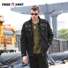 2016 New Fashion Autumn Male Jackets Brand Army Green Military Men Black Bomber Jacket Slim Windbreaker Denim And Coats