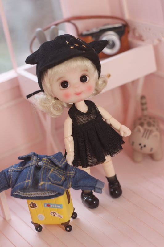 Obitsu11 OB11 Size Doll Suit Coat+dress+hat+socks 4 Pieces Available For OB11 Cu-poche Doll Accessories Doll Clothes