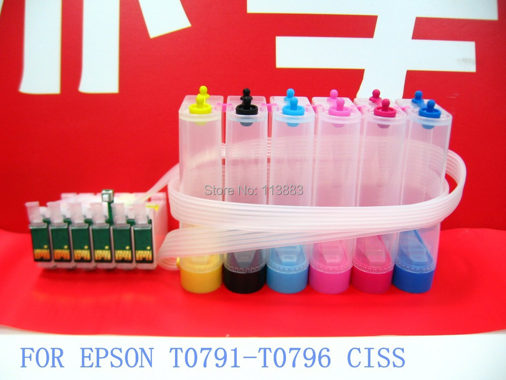 79 T0791 T0796 ink cartridge ciss continuous ink supply system for epson 1400 Stylus Photo PX700W