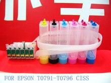 79 t0791-t0796 картридж снпч система непрерывной подачи чернил для epson 1400, Stylus Photo PX700W PX800FW P50 спринтеры