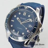 Top High Quality Blue Men's Watch Automatic Wristwatch 41mm Date Display Sapphire Glass