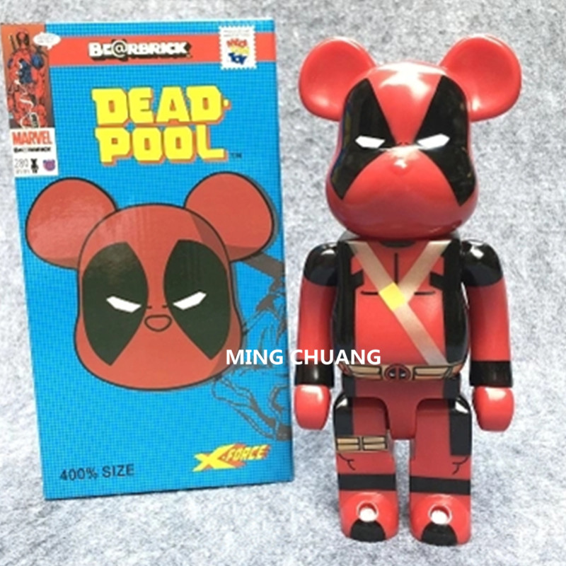 11 Inches Be@rbrick 400% Bearbrick Avengers Infinity War Deadpool Peko BB PVC Action Figure Collectible Model Toy D178 bearbrick be rbrick 400