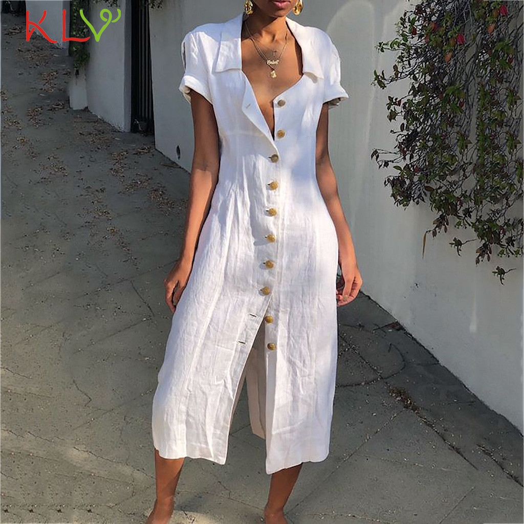 7a4cf2186fae1 Buy Button Dress Summer And Get Free Shipping (Big Offer August 2019 ...