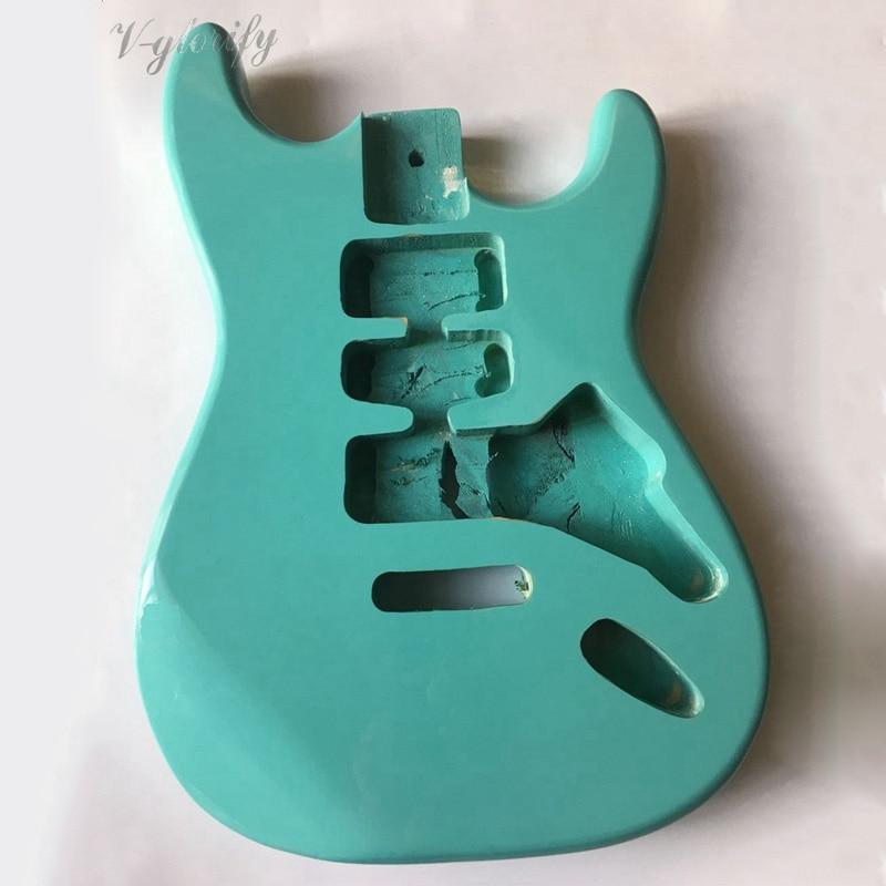 Couleur blanc vert clair ST guitare corps basswood accessoire guitare