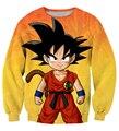 Mais novo Clássico De Dragon Ball Z Goku Garoto Camisolas Das Mulheres Dos Homens de Manga Longa Outerwear Bonito do Anime 3D Camisola Crewneck Pullovers
