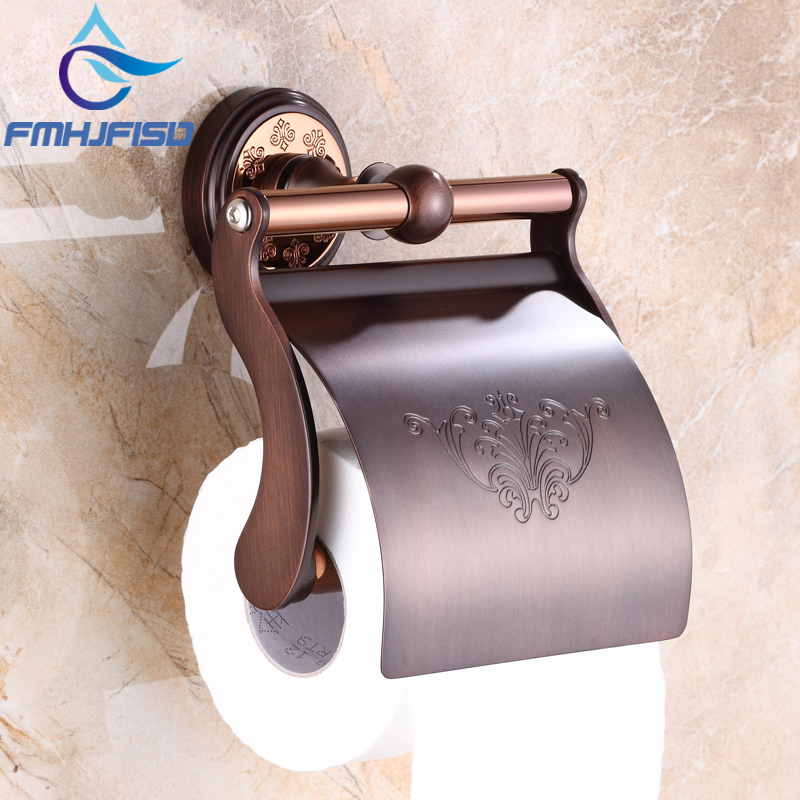Free Shipping Oil Rubbed Bronze Bathroom Toilet Paper Holder Wall Mounted Tissue Paper Holder