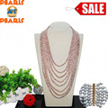 18-30 inches Long Chain Natural Rice Shaped Freshwater Pearl Necklace