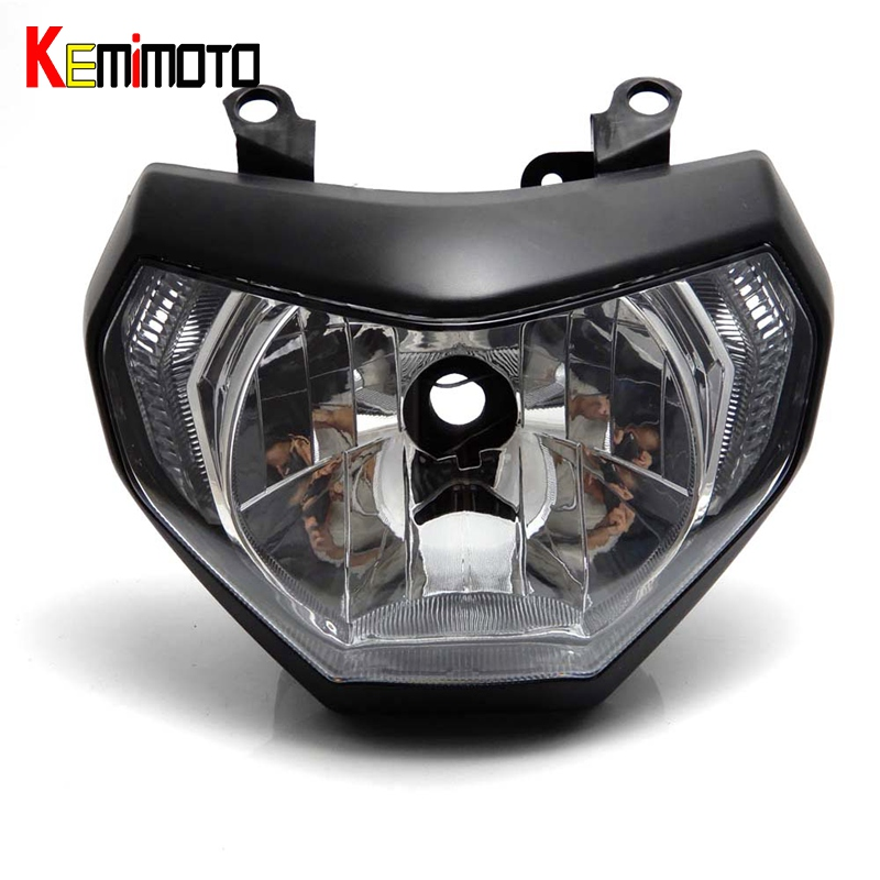 KEMiMOTO MT-09 FZ-09 MT09 Front Head Light Headlight Housing For Yamaha MT 09 FZ 09 2014-2016 Motorcycle Lighting Headlamp scooter abs electroplate front headlight headlamp head light lamp small mask cap cover shield large for yamaha bws x 125 plating