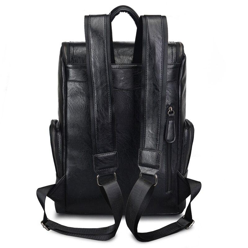 couro escola mochila bolsapack mochila Backpack : Leather Backpack
