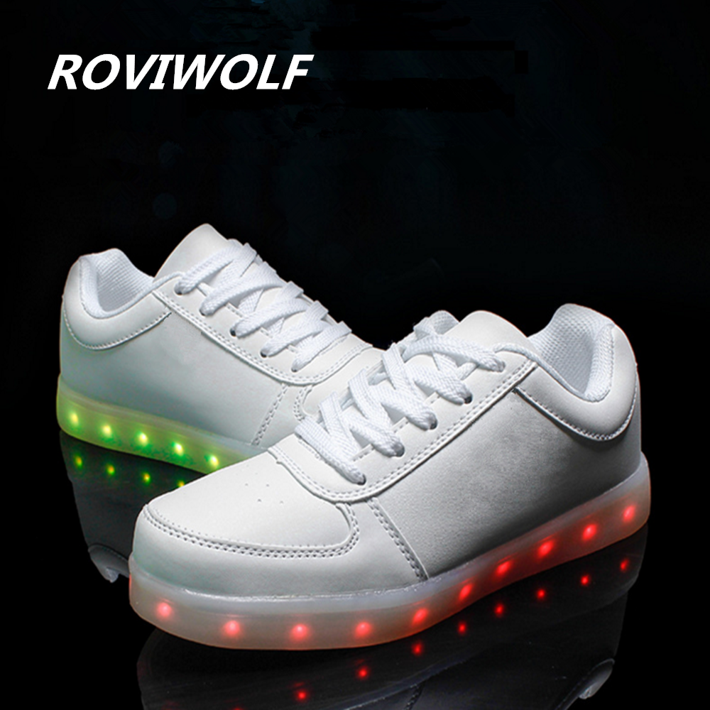 Mujeres Ocasionales Tenis Los Con Zapatos Led De Roviwolf uK15lc3FTJ