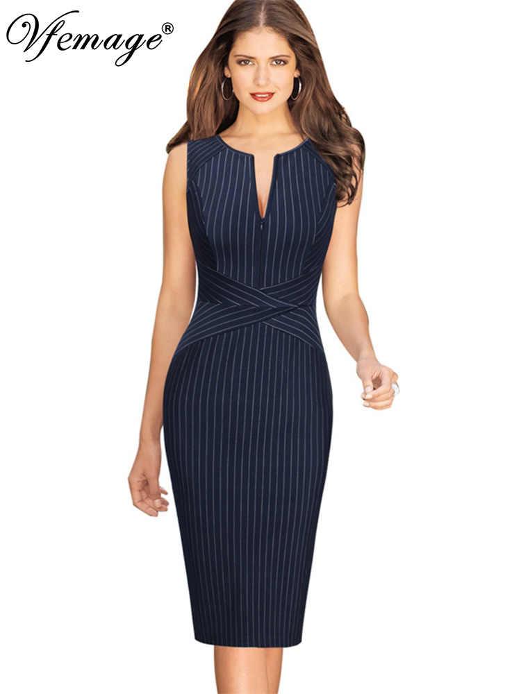 a3de52eb3922a 2019 New Summer Office Dress Women Elegant O neck Sleeveless Knee ...
