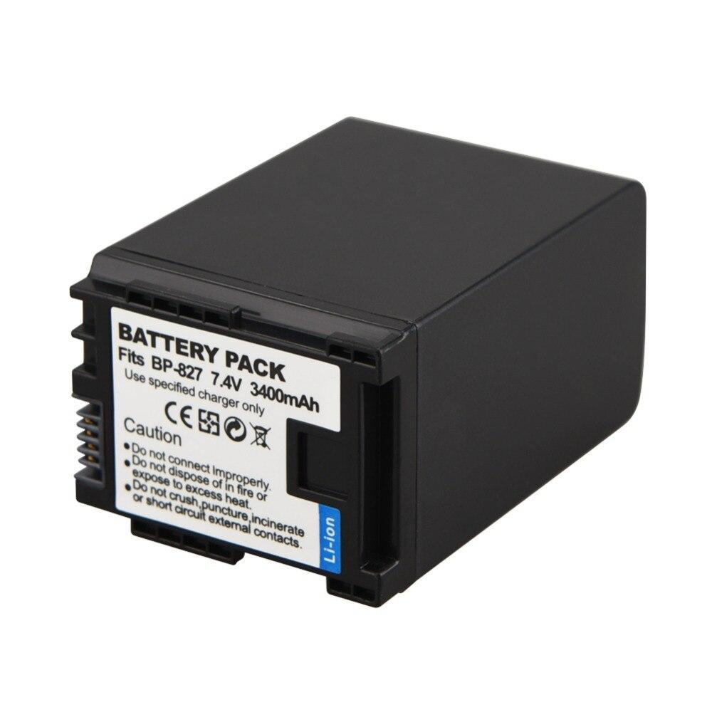 1 unid 3400 mAh BP-827 BP 827 reemplazo de la batería digital para Canon HF10 HF11 HF100 HF20 HF200 HF S10 S11 s100 S20 S21 S200 S30 G10