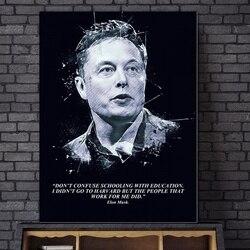 ELON MUSK  Art Canvas Poster Home Decor 12x18 24x36inch