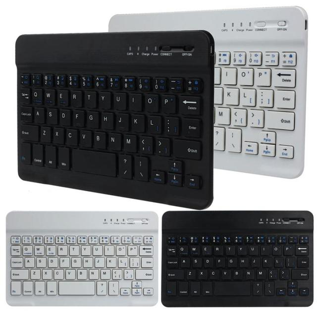 2018 HOT SALE New Ultra Slim Aluminum Wireless Bluetooth Keyboard For IOS Android Windows PC working time 40 hours 59 keys Nice