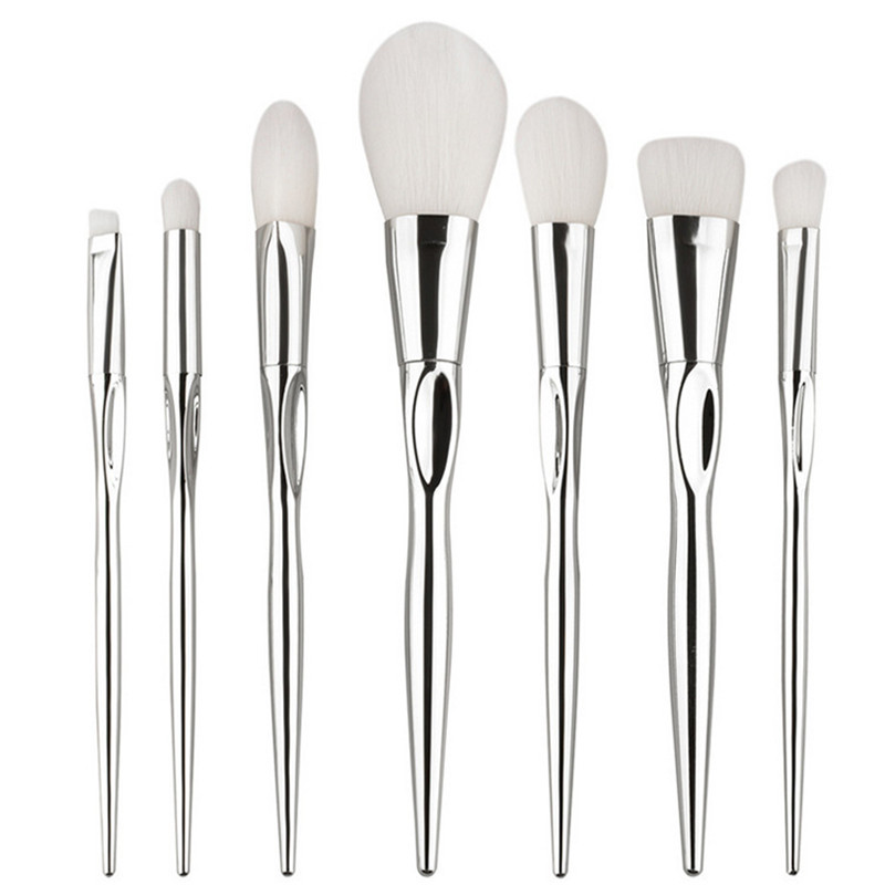7pcs/Sets New Heart-shaped Make-up Brush Silver Sets of Brush Beauty Tools Source Factory Fingerprints Makeup Brush кольцо коюз топаз кольцо т147016107