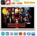 O envio gratuito de 10 polegada tablet pc Octa núcleo 3G telefonema 4G LTE 4 GB de RAM 32 GB ROM 1280*800 IPS MID 7 9 10 Comprimidos