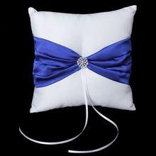 YOST-White Свадебная сатиновая с бантом вечерние карманные кольца Подушка