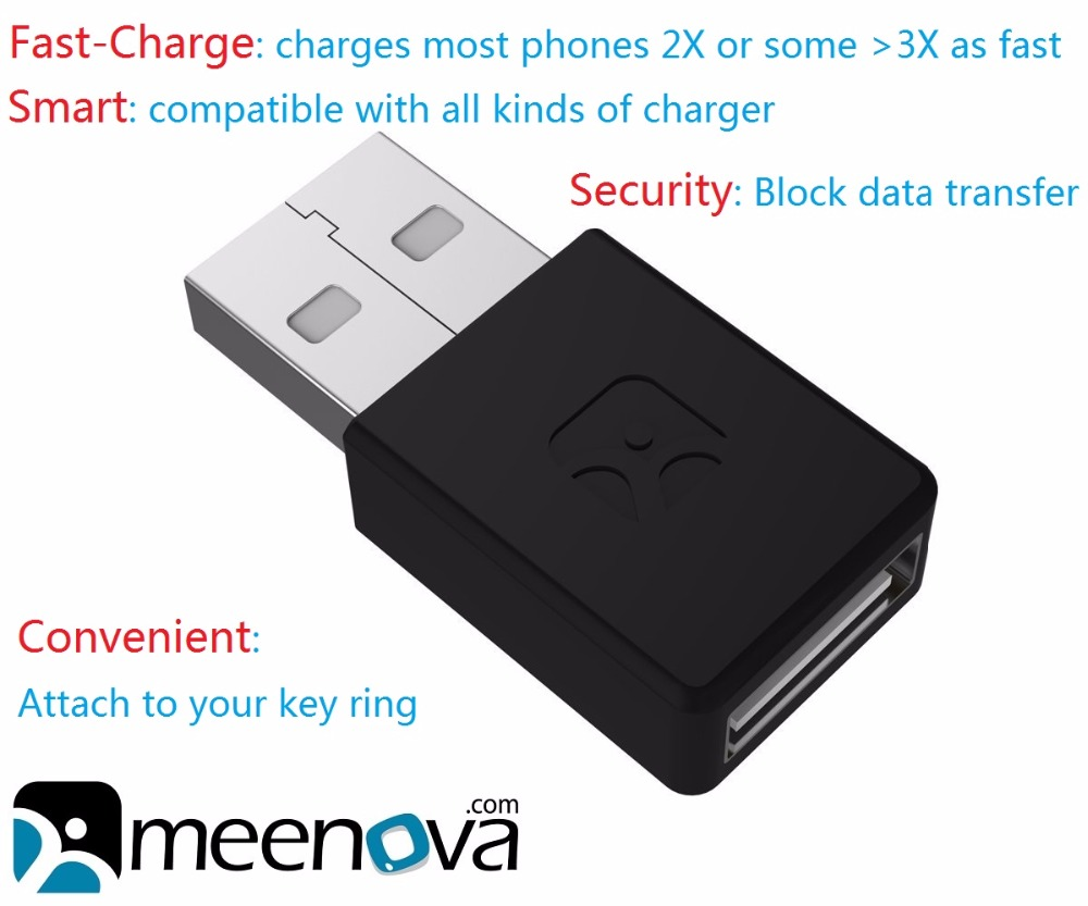 Meenova Usb-Adapter Data-Block Smartphones Tablets Charge for Only Only