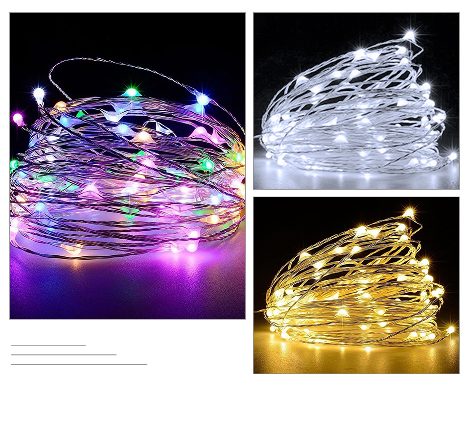 10M 20M Solar Power LED Garland Christmas Tree Fairy String Lights Chain Copper Wire Home Outdoor Christmas Holiday Decoration (9)