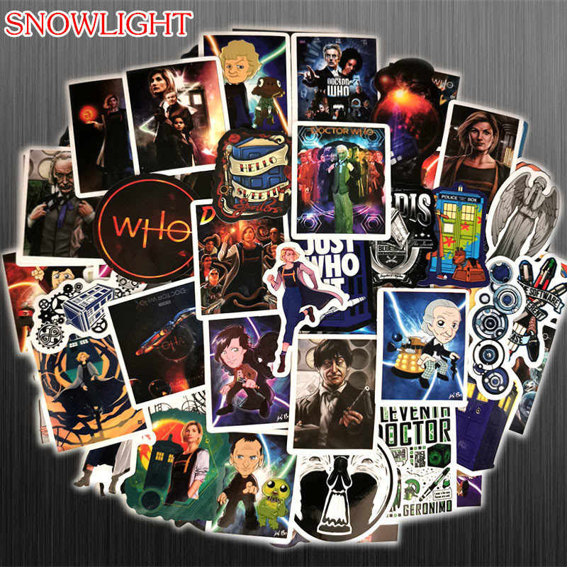 100Pcs/lot  New Doctor Who Stickers Anime Adventure Bomb Sticker For Phone Laptop Graffiti Skateboard Stickers Decals
