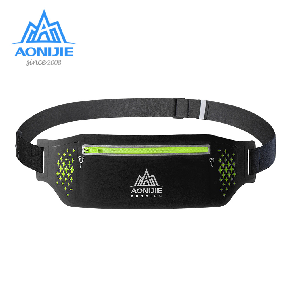 AONIJIE W923 Adjustable Slim Running Waist Belt Jogging Bag Fanny Pack Travel Marathon Gym Workout Fitness 6.5 In Phone Holder