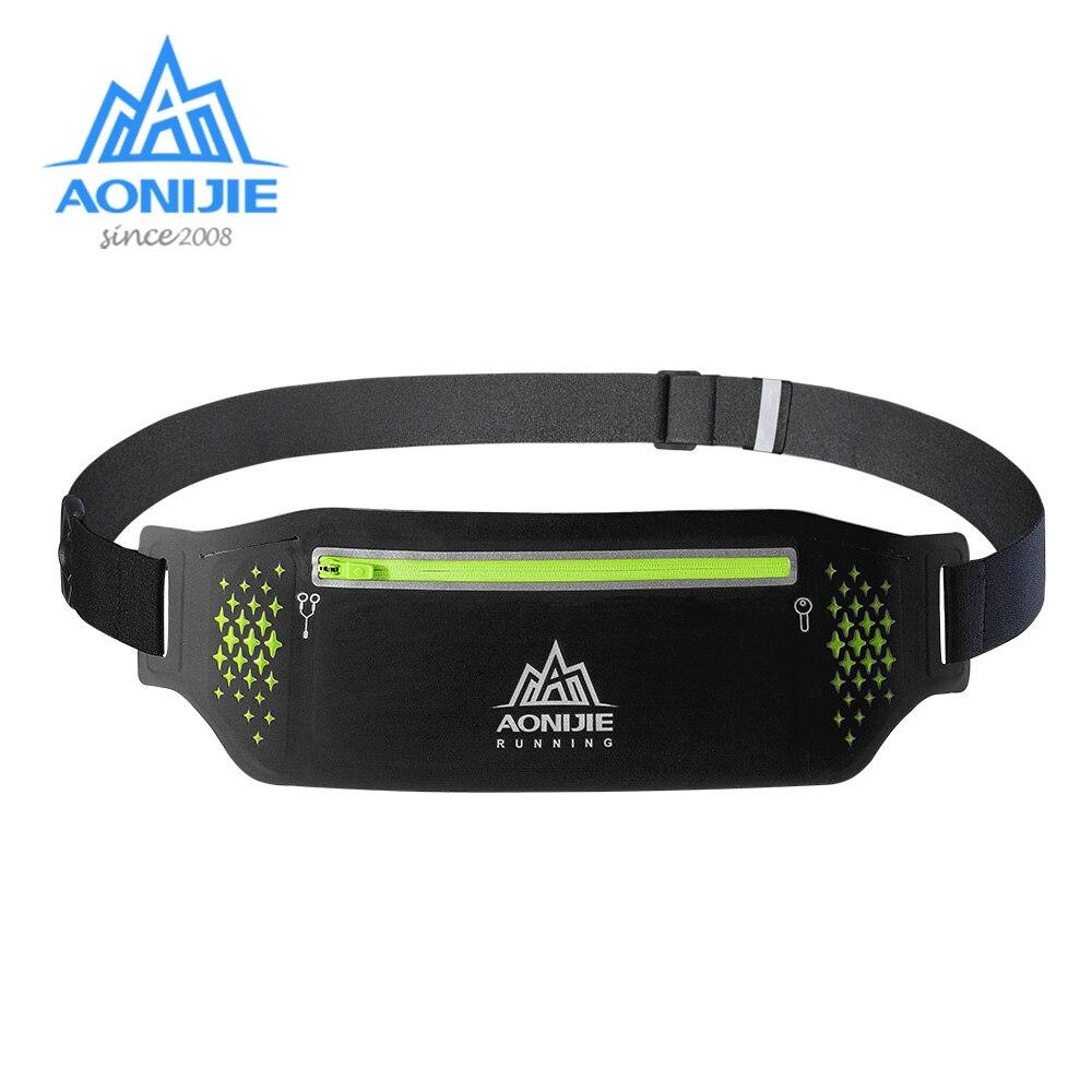 AONIJIE W923 Adjustable Slim Running Waist Belt Jogging Bag Fanny Pack Travel Marathon Gym Workout Fitness 6.5 In Phone Holder