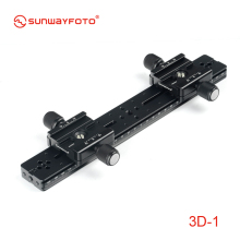 SUNWAYFOTO 3D 1 Tripod Head 3D Stereo Stereoscopic Dual Cameras 3 Pieces Kit Professional Tripode Heads