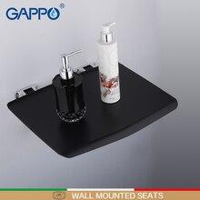 GAPPO настенные сиденья для душа, черные складные стулья для ванной комнаты, стульчик для ванны и душа, стул для туалета, экономия пространства, Складное Сиденье