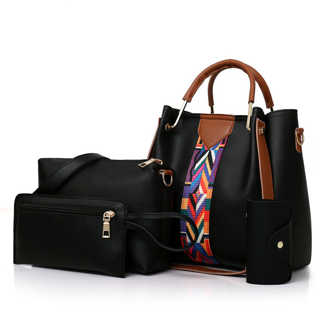 Women Messenger Bags Ladies Handbag New Brand 4 set Shoulder Bag Soft High Quality PU Casual Bag Female Fashion Wristlets Bag 1