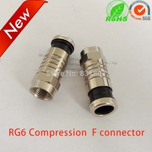 RG6 Coax compression cable f connector waterproof f-type plug RF coaxial RG59 RG11 adapter