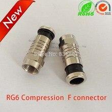 RG6 Coax sıkıştırma kablosu f konnektörü RG6 su geçirmez f tipi fiş RF koaksiyel konnektör RG59 RG6 RG11 f adaptörü coax sıkıştırma